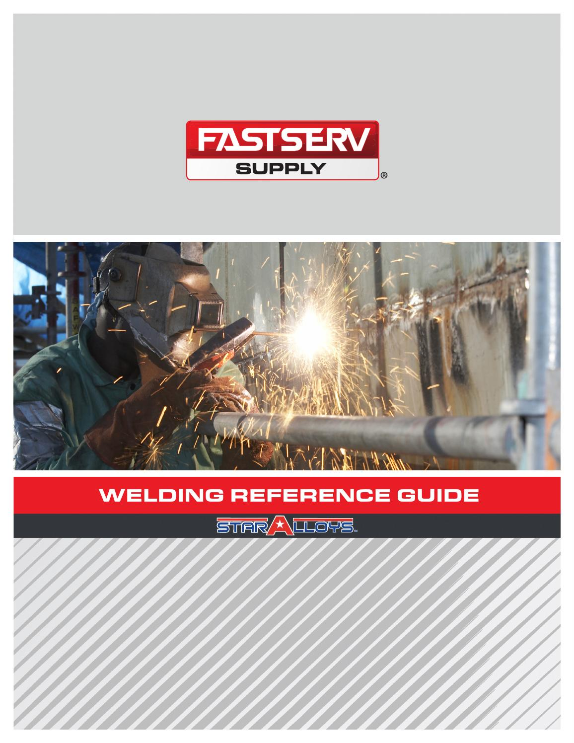 Staralloys Welding Reference Guide By Fastserv Supply Issuu Mig Welder Additionally Wiring Diagram Besides Shock Cord