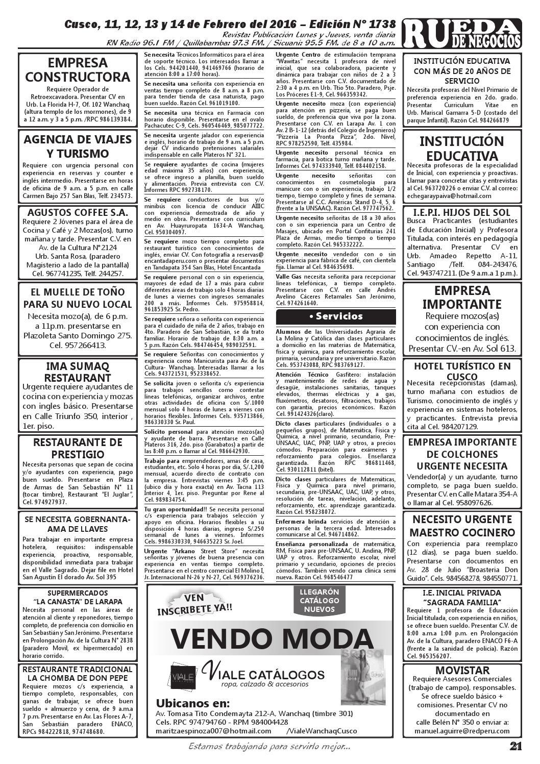 Edición 1738 by Rueda de Negocios - issuu