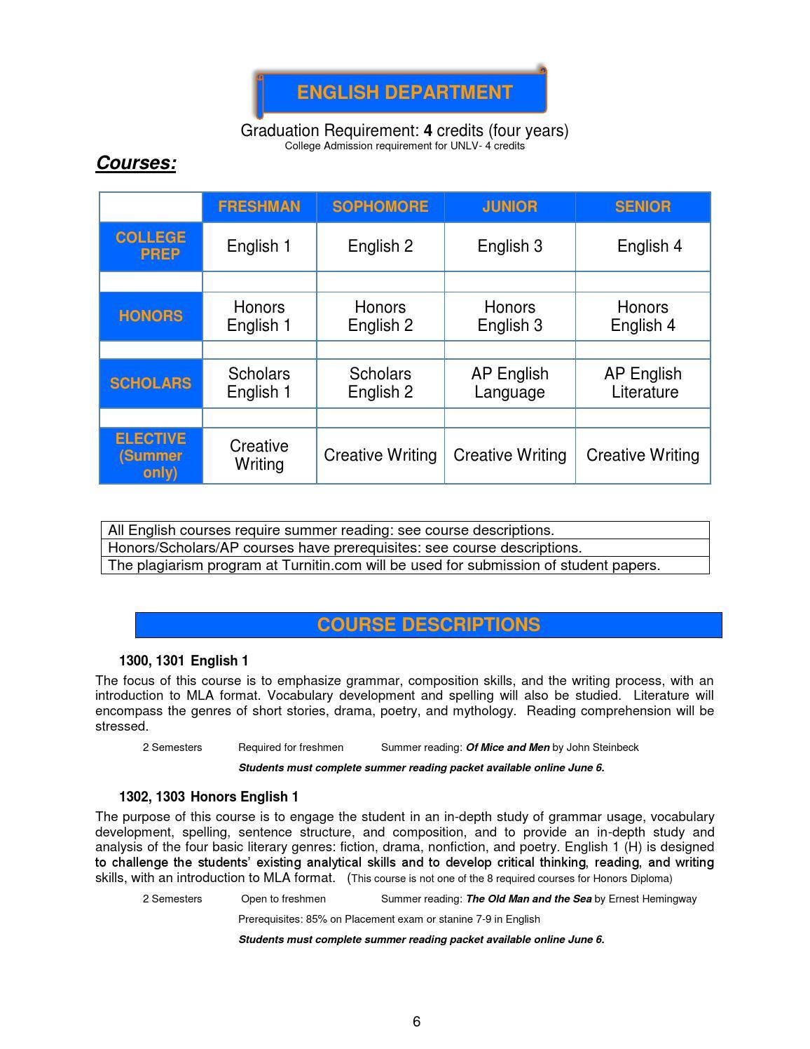 scholars elective requirements honours courses pdf