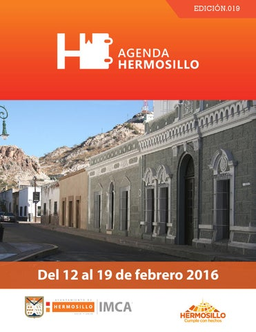 "Cover of ""Agenda Hermosillo 12 de febrero"""
