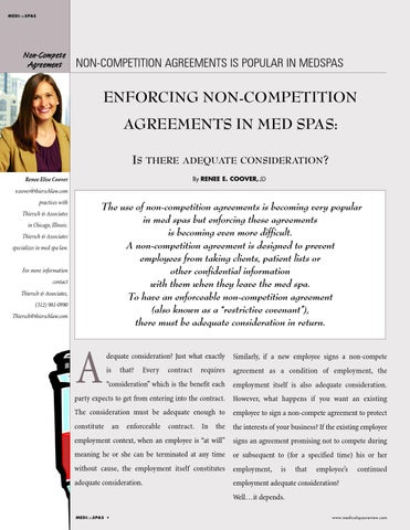 Enforce Non Compete Agreement In Your Medspa By Medical Spas Review