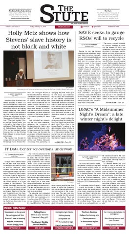 The Stute] February 12, 2016 (Issue 17, Volume CXIII) by The