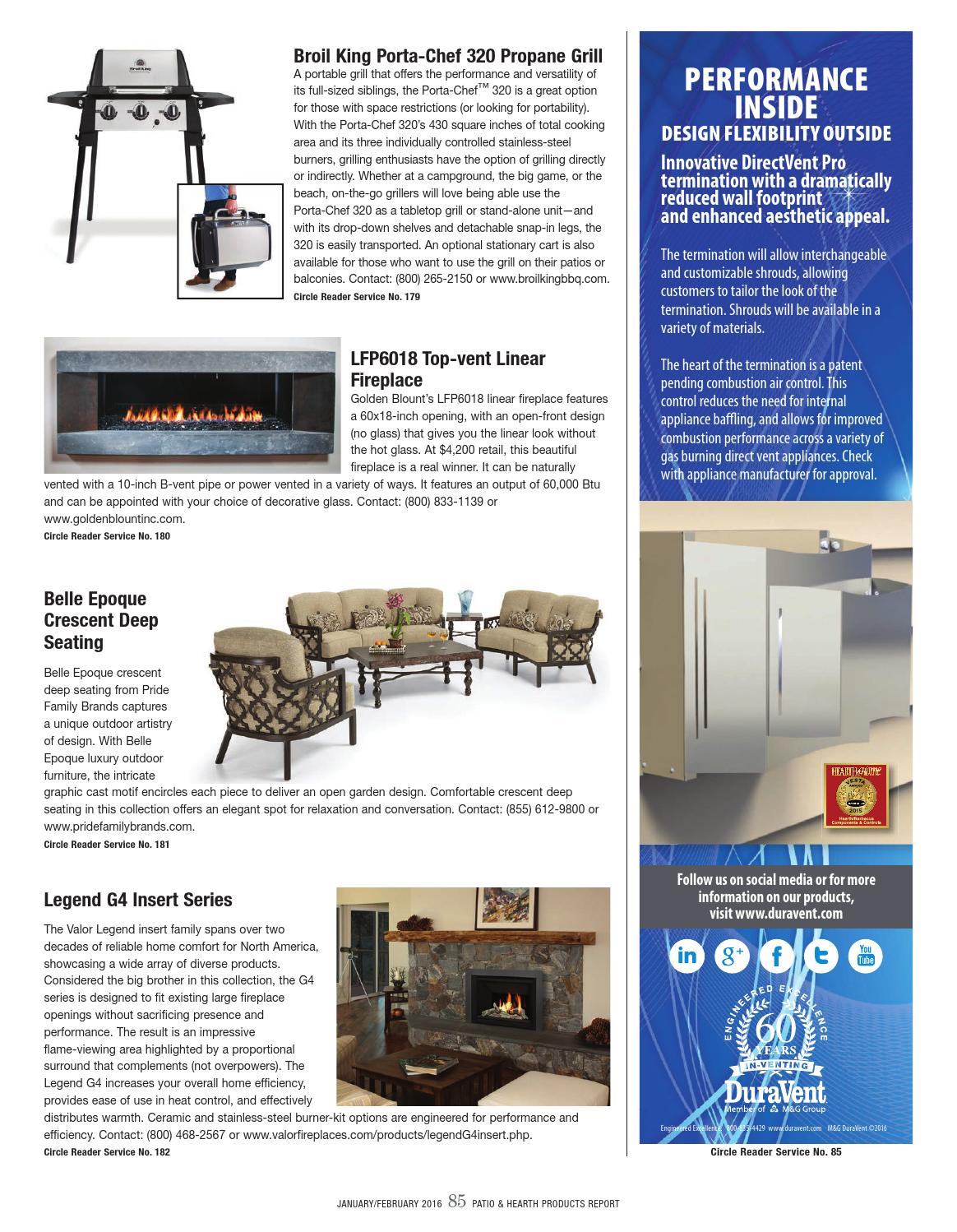 Swell Patio Hearth Product Report January February 2016 By Download Free Architecture Designs Salvmadebymaigaardcom