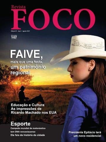 Revista Foco - Agosto 2015 by Wagner Bueno - issuu 815600fd6aa37