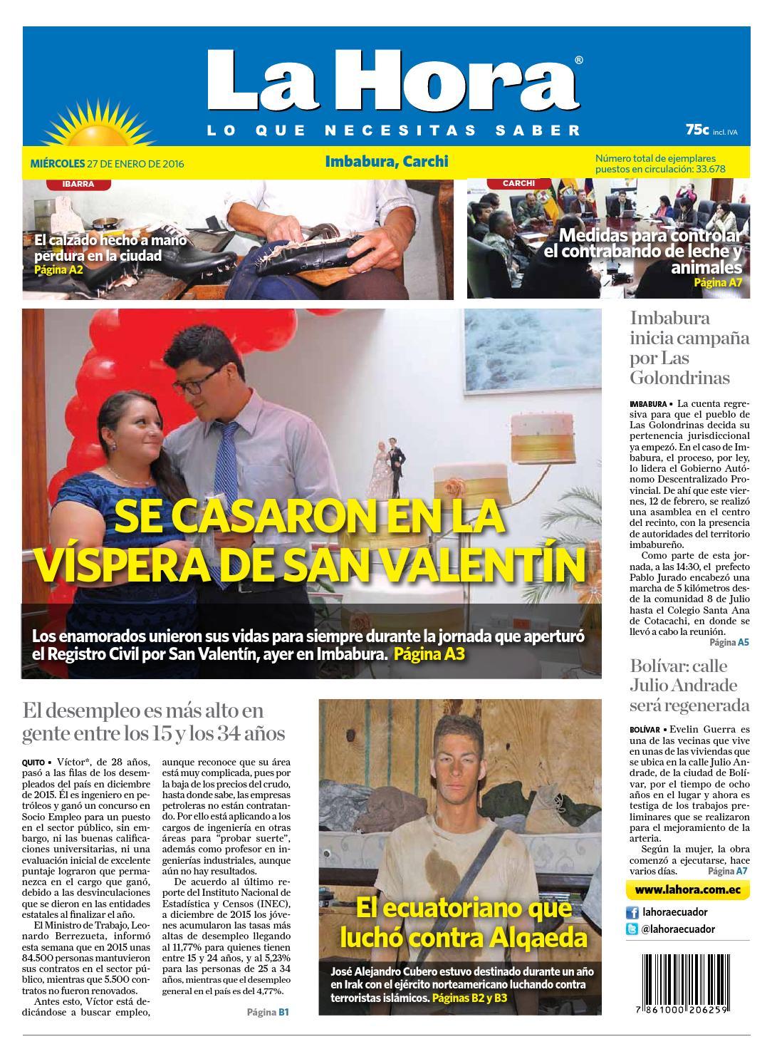 Imbabura Carchi 14 de febrero 2016 by Diario La Hora Ecuador - issuu