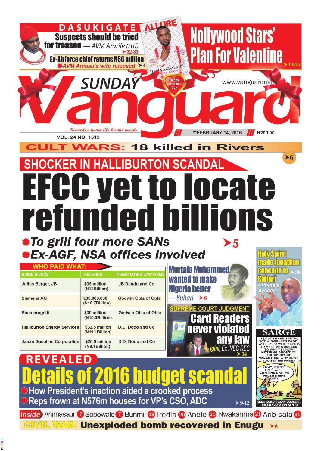 7d29018daed14 EFCC yet to locate refunded billions by Vanguard Media Limited - issuu