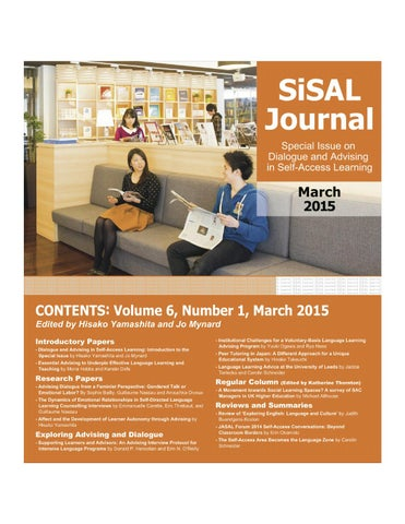 SiSAL Journal 6(1) by Studies in Self-Access Learning Journal - issuu