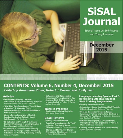 Sisal journal 64 special issue on self access and young learners page 1 fandeluxe Choice Image