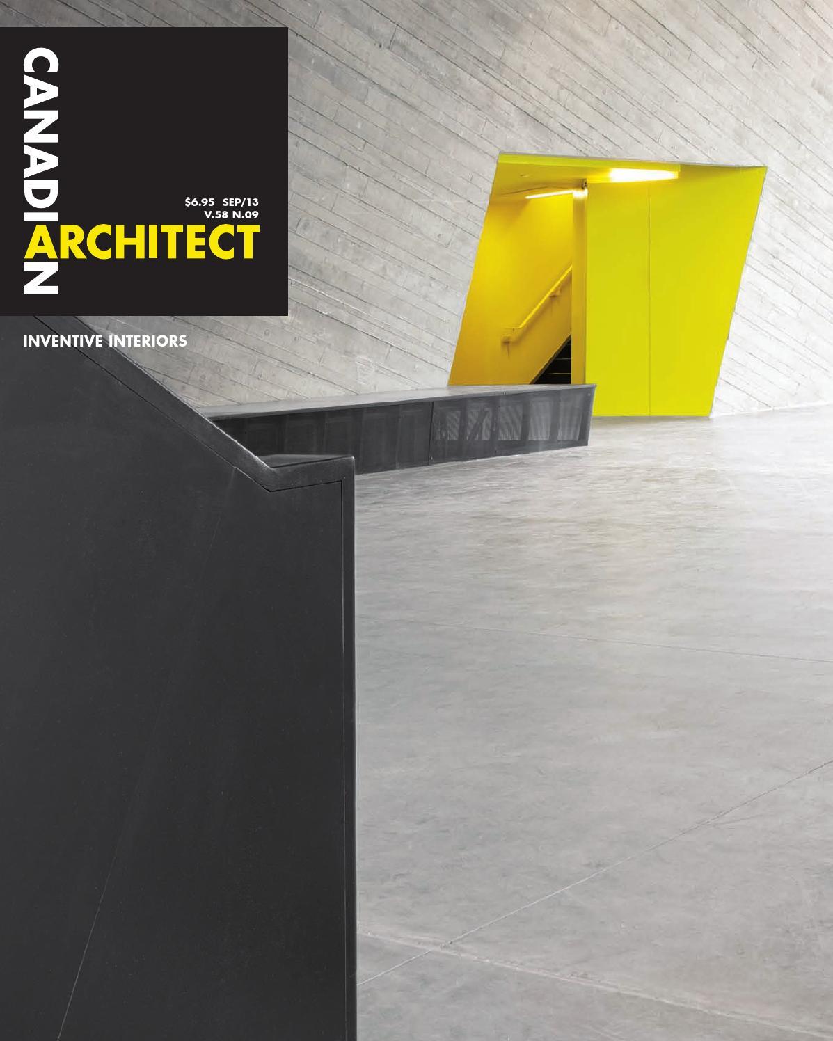canadian architect september 2013 by iq business media issuu rh issuu com