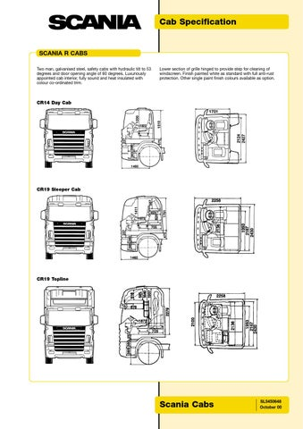 24 volt fuse box scania cab specification serie 4 by midia truck brasil pdf  scania cab specification serie 4 by midia truck brasil pdf