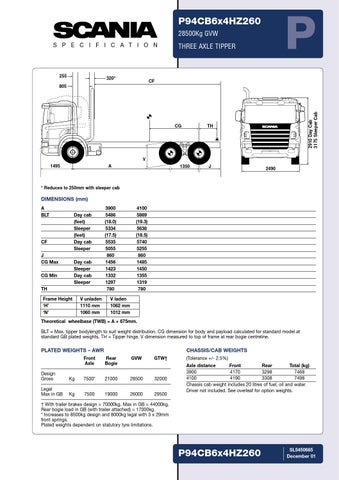 Scania Specification P94CB by Midia Truck Brasil PDF Center