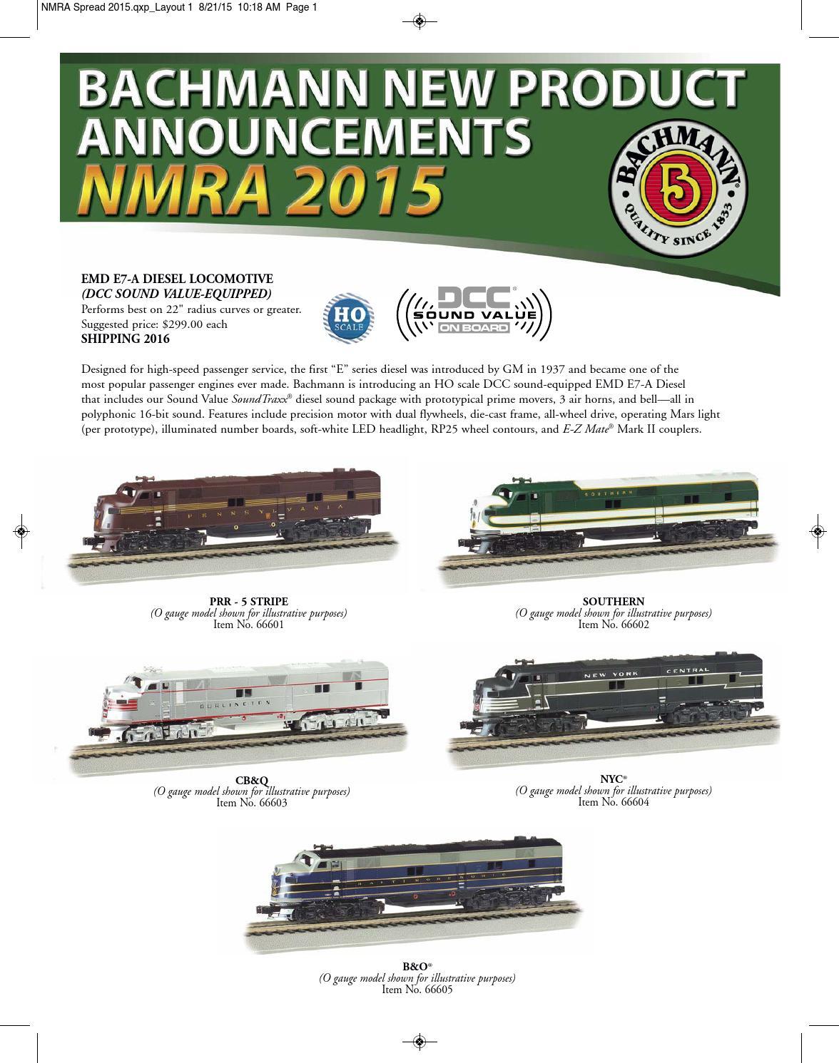 HO Scale ATLANTIC COAST E7-A EMD DCC Ready Locomotive Bachmann New in Box 66704