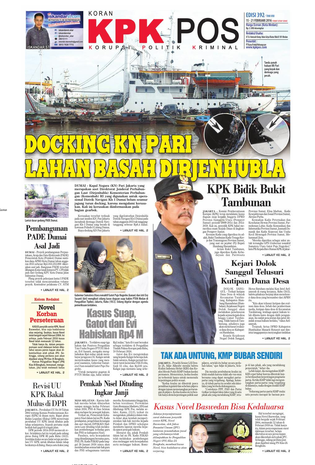 Epaper kpkpos 392 edisi senin 15 februari 2016 by media andalas - issuu 76acdabcbf