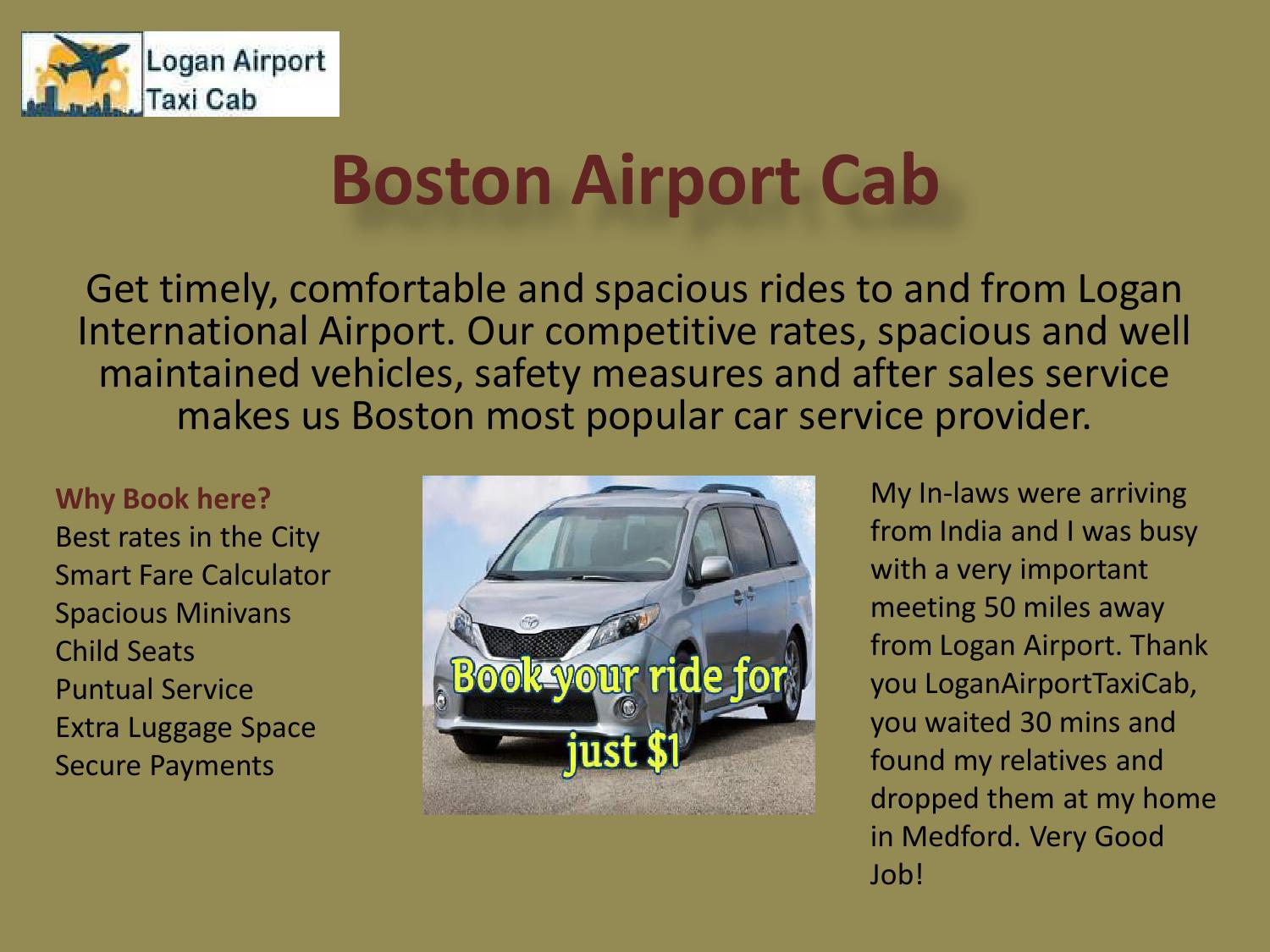 Boston Airport Cab By Loganairport Taxicab Issuu