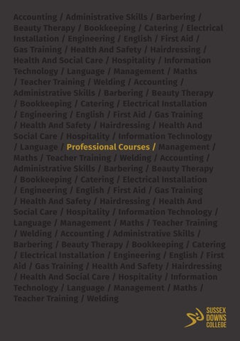 Sussex Downs College Professional Courses Guide by East