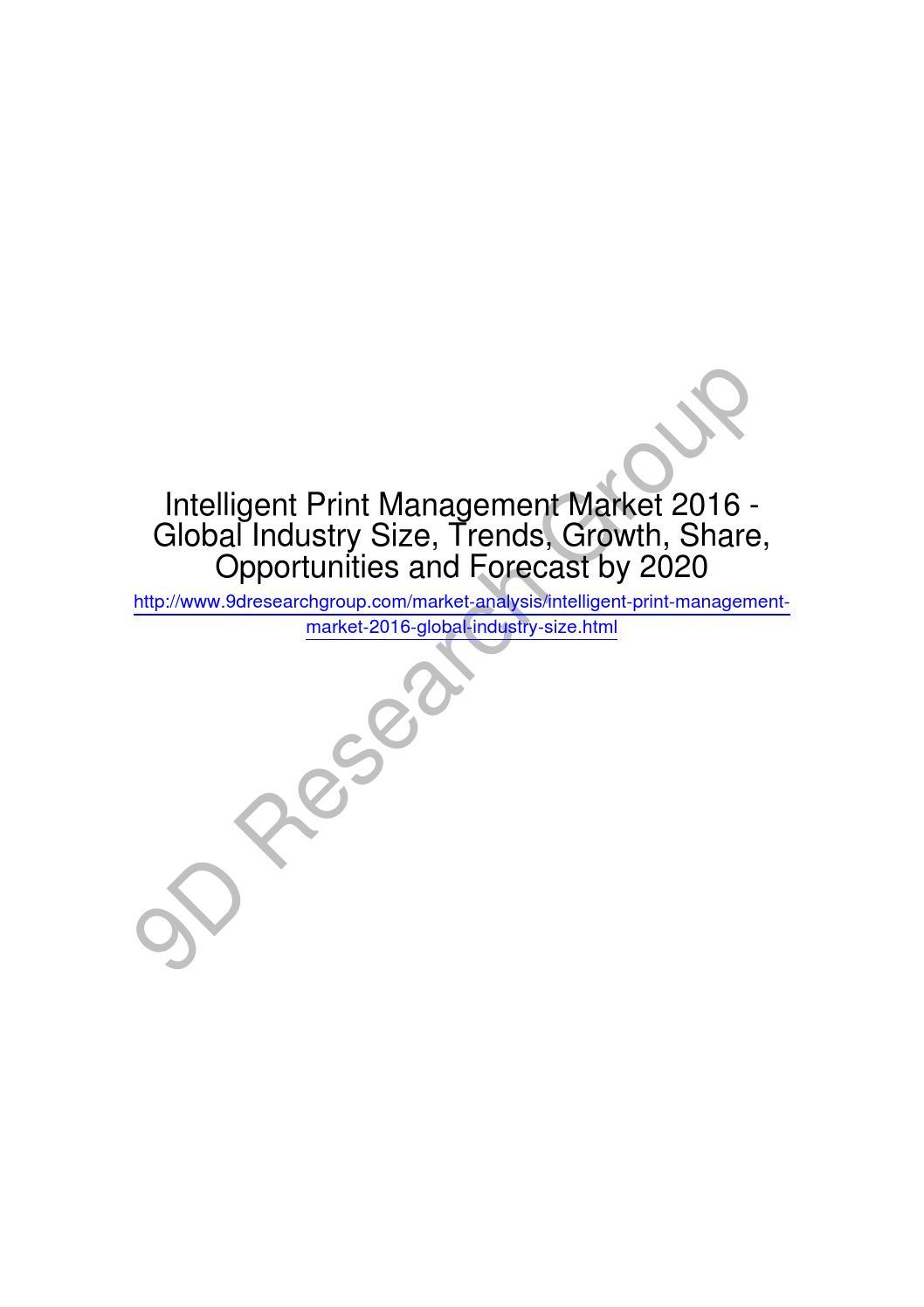 Intelligent print management market 2016 global industry