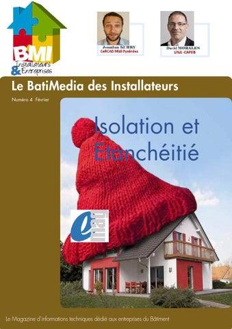 bmi 4 f vrier 2016 isolation et etancheite by batimedia issuu. Black Bedroom Furniture Sets. Home Design Ideas