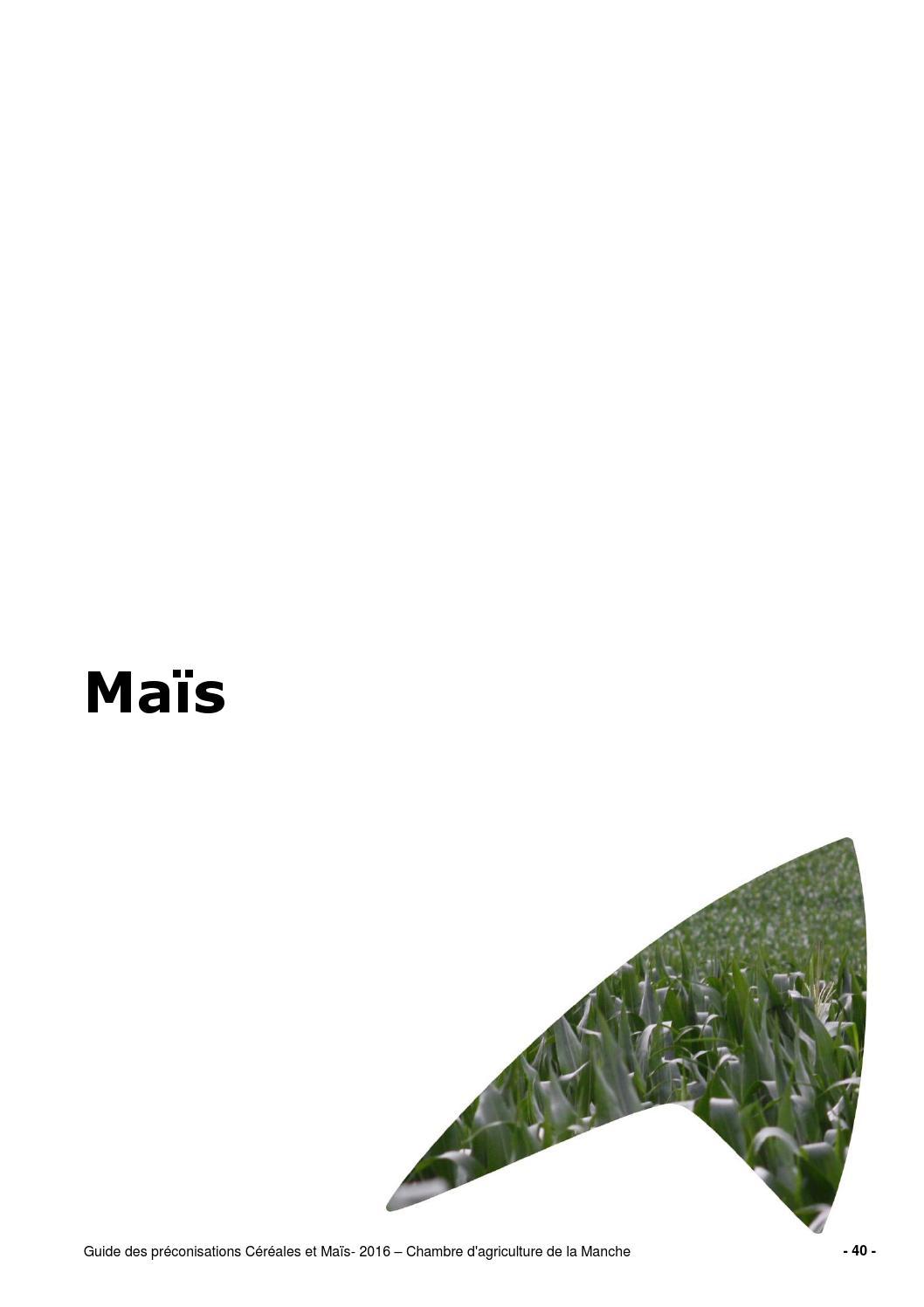 Guide complet de la culture du ma s by chambre d - Chambre d agriculture de la manche ...