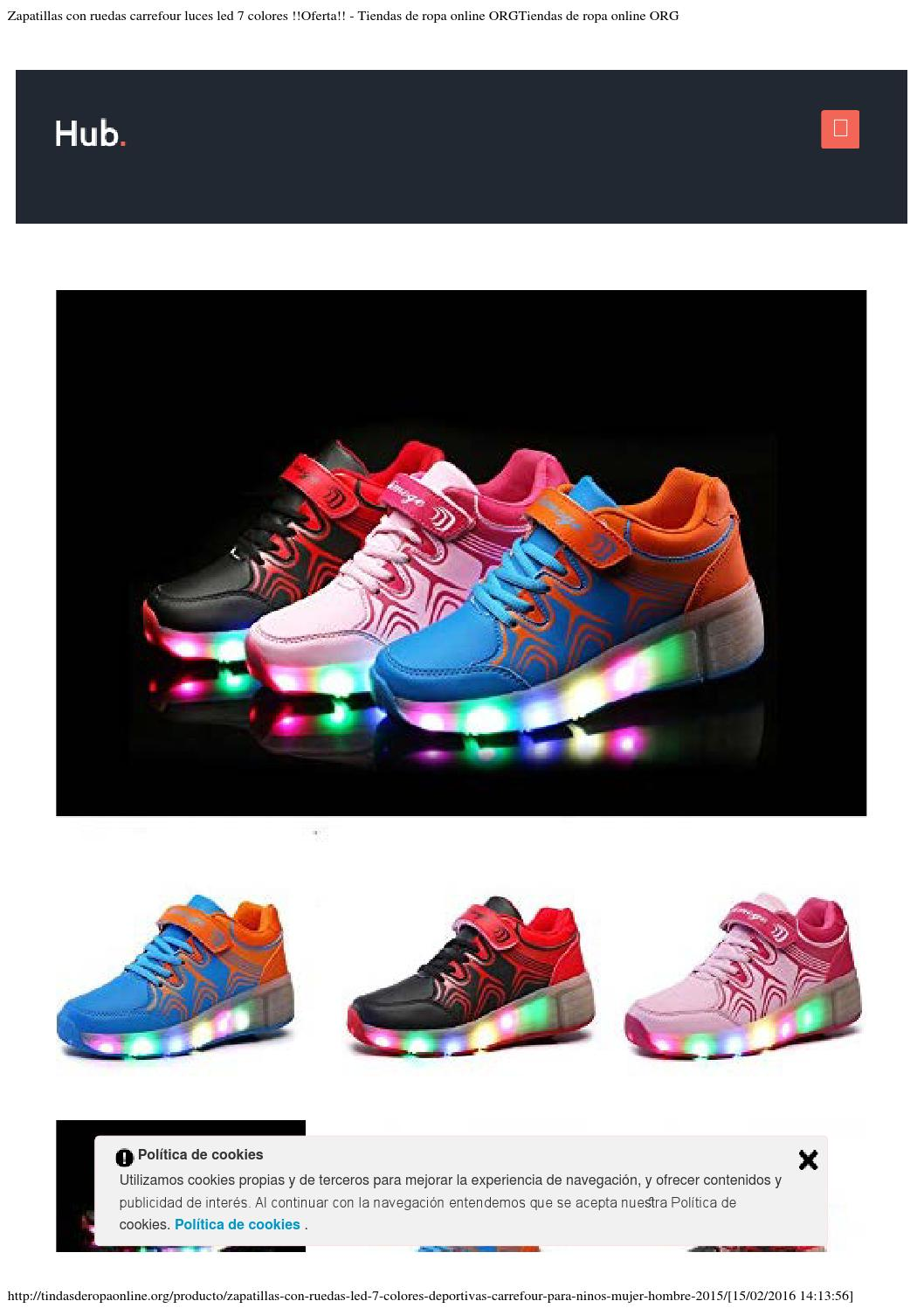 Zapatillas Ruedas Led Carrefour Luces Con 7 ColoresofertaBy hdsrCQxt
