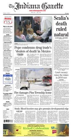 e84a6d2055cc Page 1. Indiana Gazette. The