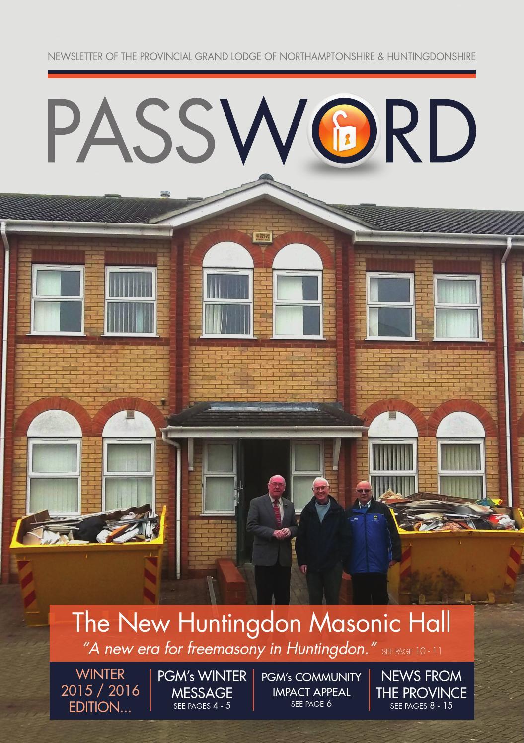Password Winter 2015/16 by Northants and Hunts Masons - issuu