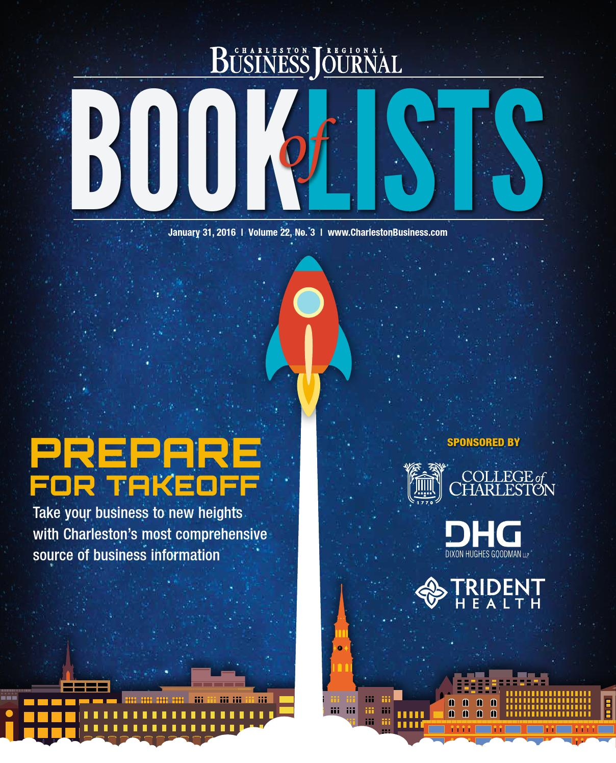 2016 charleston book of lists by sc biz news issuu
