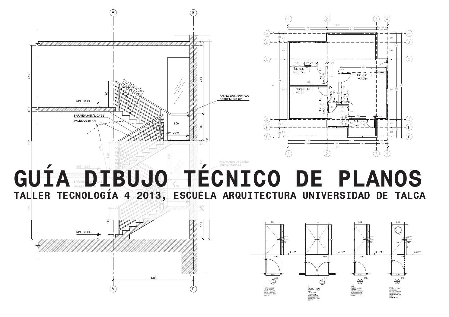 Guia dibujo t cnico de planos by diego antonio mu oz for Que es un plano arquitectonico