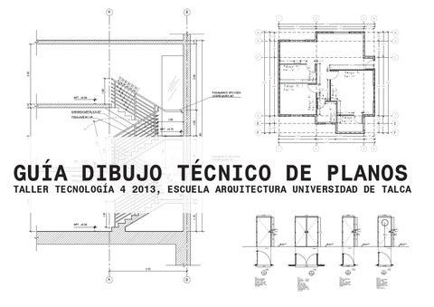 Guia dibujo t cnico de planos by diego antonio mu oz for Como dibujar un plano de una casa