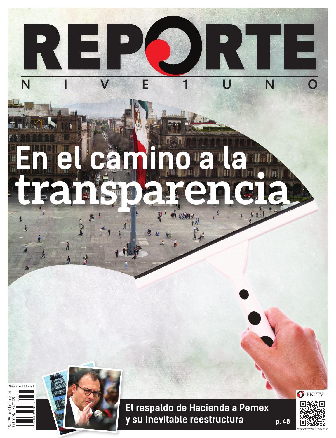 Reporte Nivel Uno - En el camino a la transparencia by Reporte Nivel ...