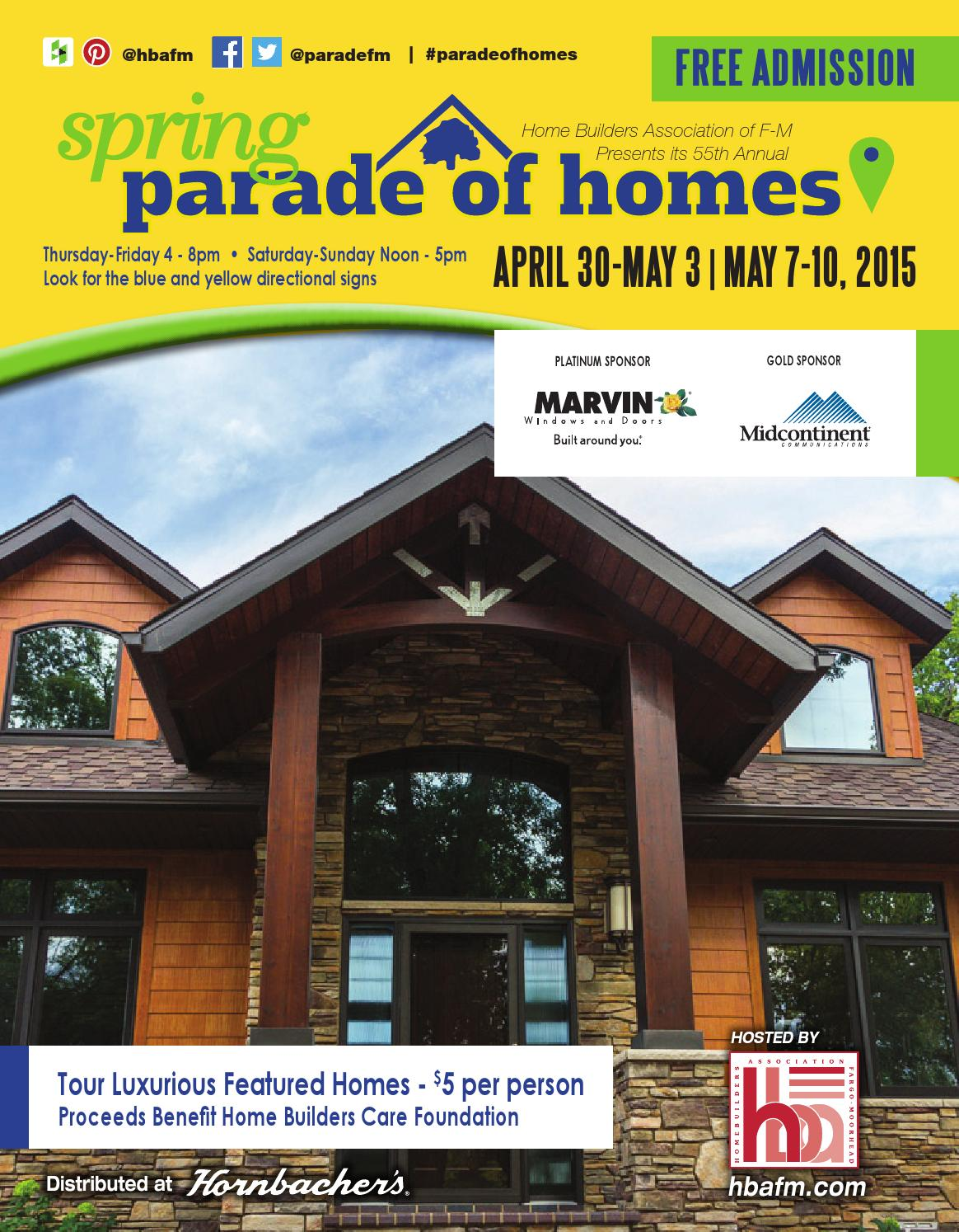 Spring parade of homes 2015 by home builders association for Nd home builders