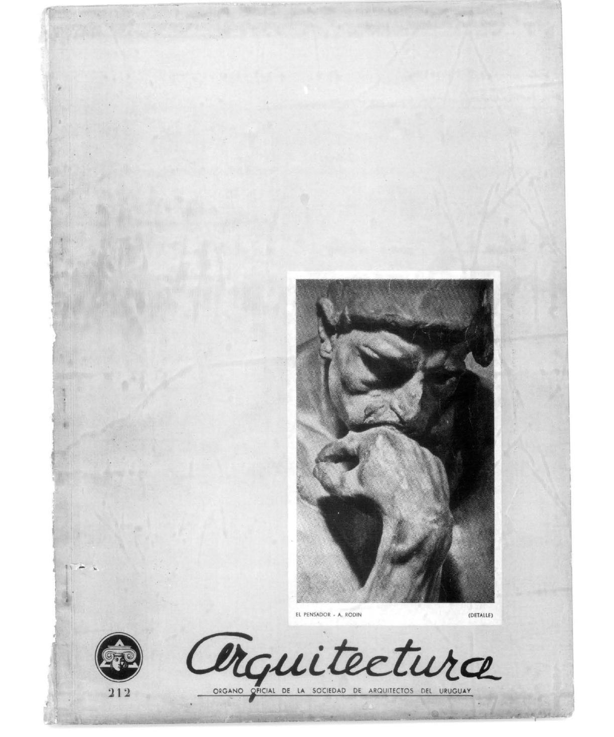 Arquitectura 212 - 1944 by Sociedad de Arquitectos del Uruguay SAU ...