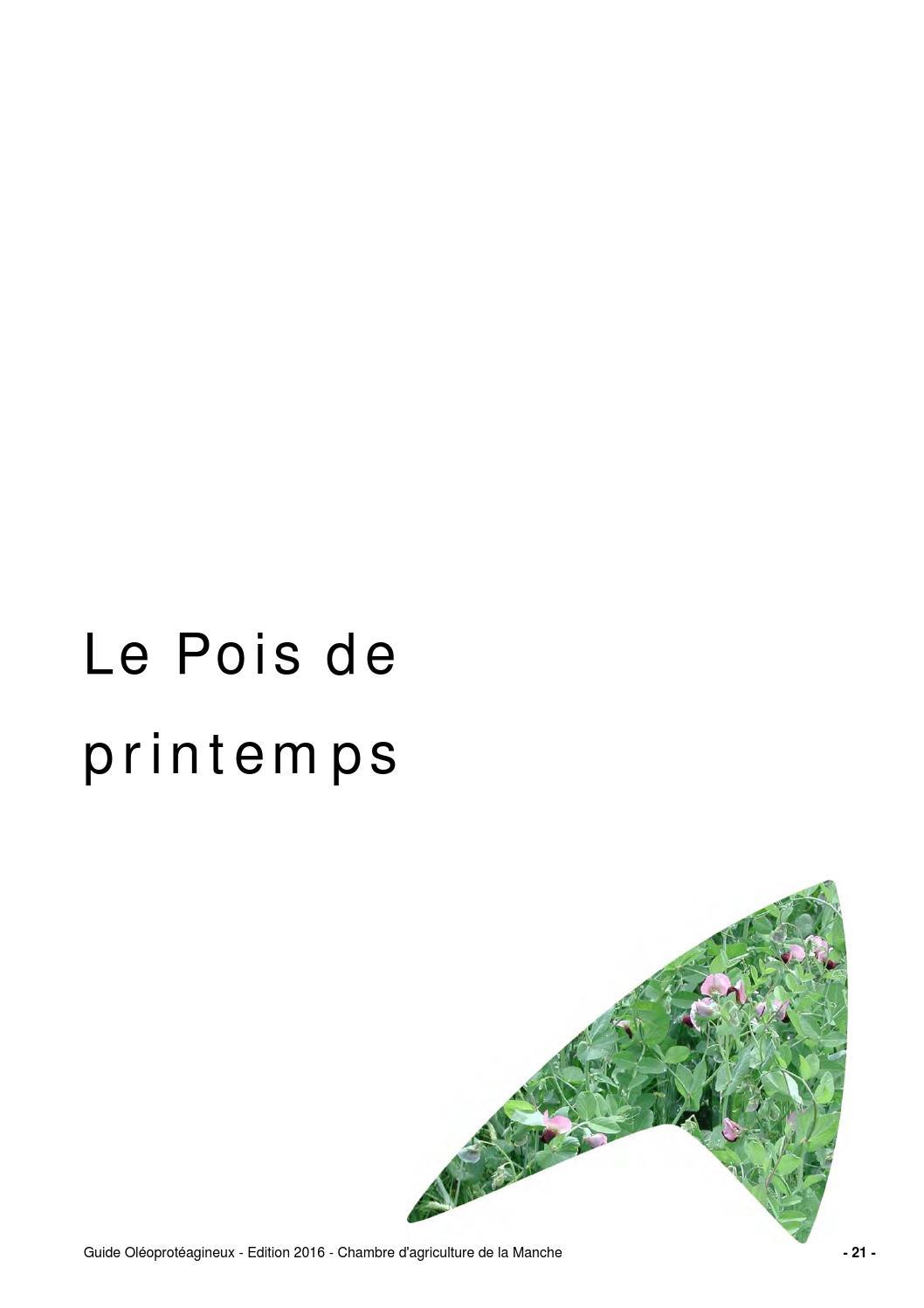 Guide pois de printemps 2016 by chambre d 39 agriculture - Chambre d agriculture de la manche ...