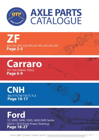 QTP Axle Catalogue by Quality Tractor Parts - issuu