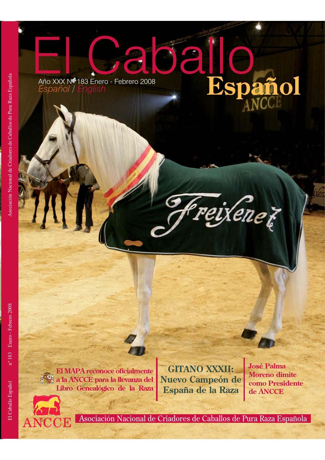 Revista el Caballo Español 2008 n.183 (English) by Revista El Caballo  Español - ANCCE - issuu