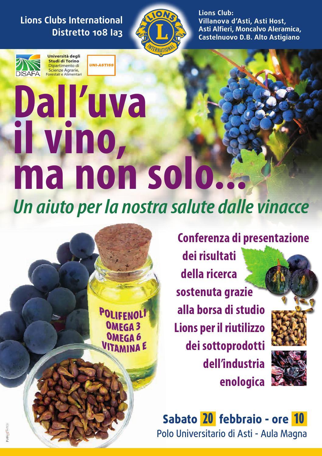 Dall Uva Il Vino Ma Non Solo By Astiss Polo Universitario Asti Studi Superiori Issuu