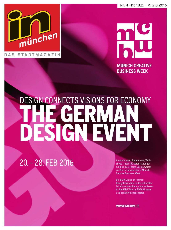 In München Ausgabe 04/2016 By InMagazin Verlags GmbH   Issuu