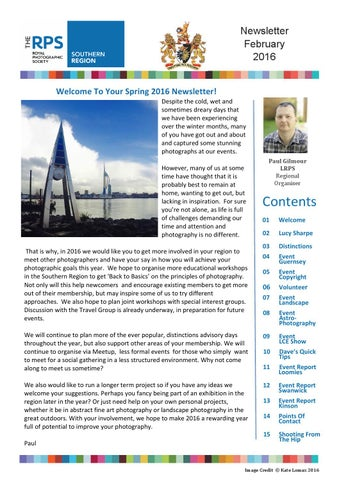 rps southern region february 2016 newsletter by royal photographic
