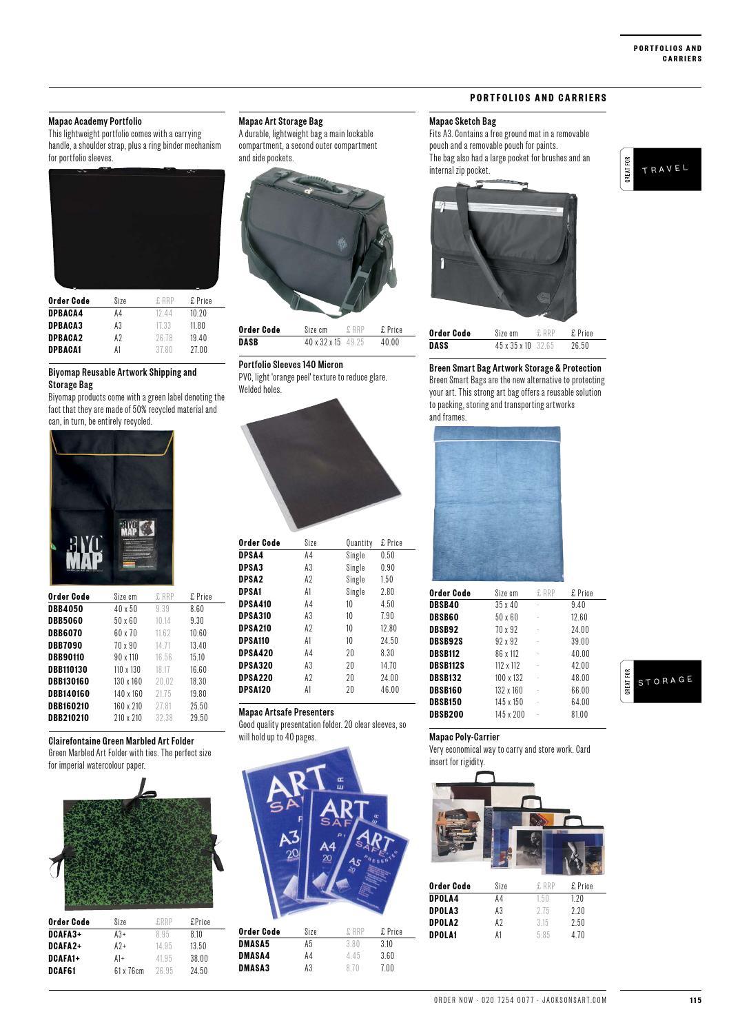 Pack of 10 A2 Art Portfolio Sleeves PVC 140 Micron