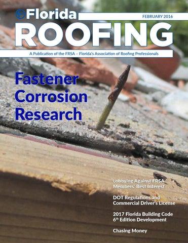 Florida Roofing Magazine   February 2016