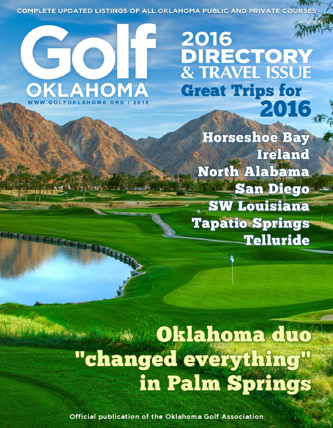 2016 directory and travel issue by golf oklahoma magazine issuu
