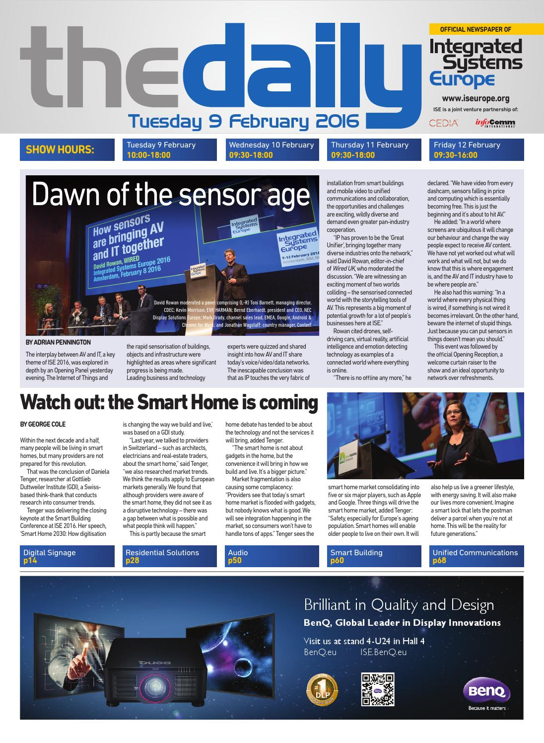 ISE Daily Tuesday 9 February 2016 by Future PLC - issuu