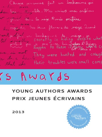 e915448d25d Young Authors Booklet - 2013 by  OECTA - issuu
