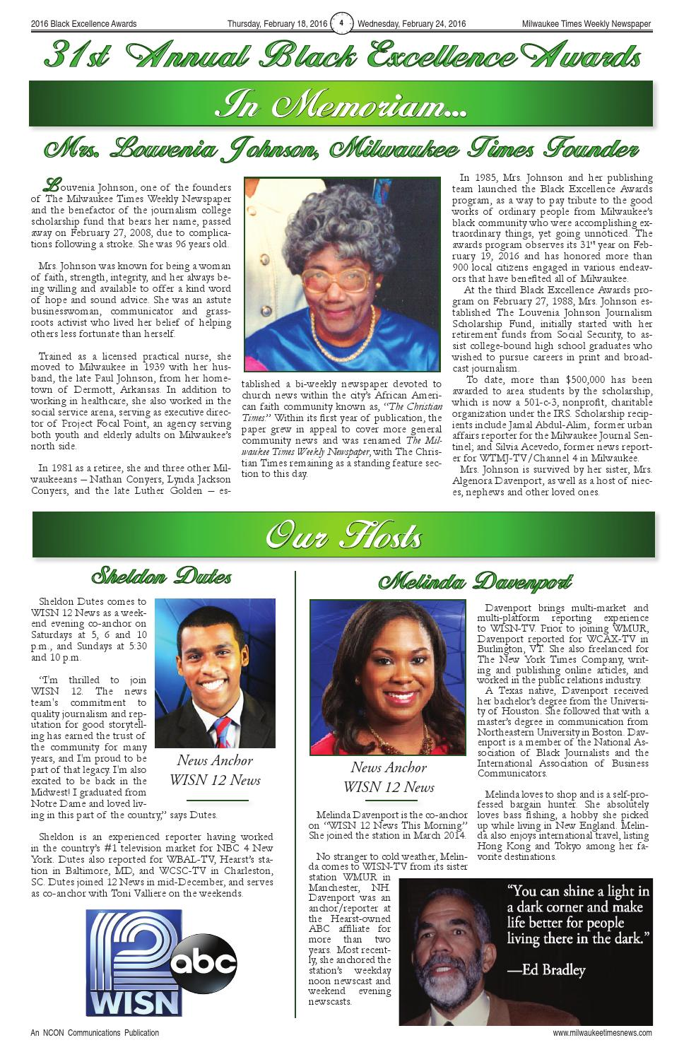 Be paper 2016 44 pg full color by Milwaukee Times News - issuu
