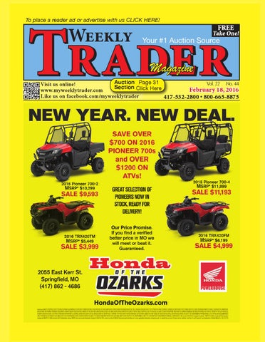 Weekly Trader February 18, 2016 by Weekly Trader - issuu
