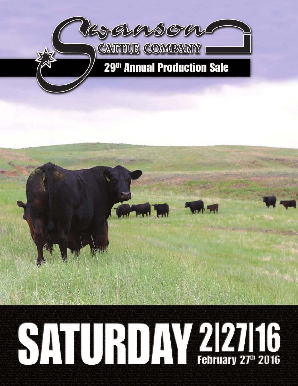 Swanson Cattle Company 29th Annual Production Sale by