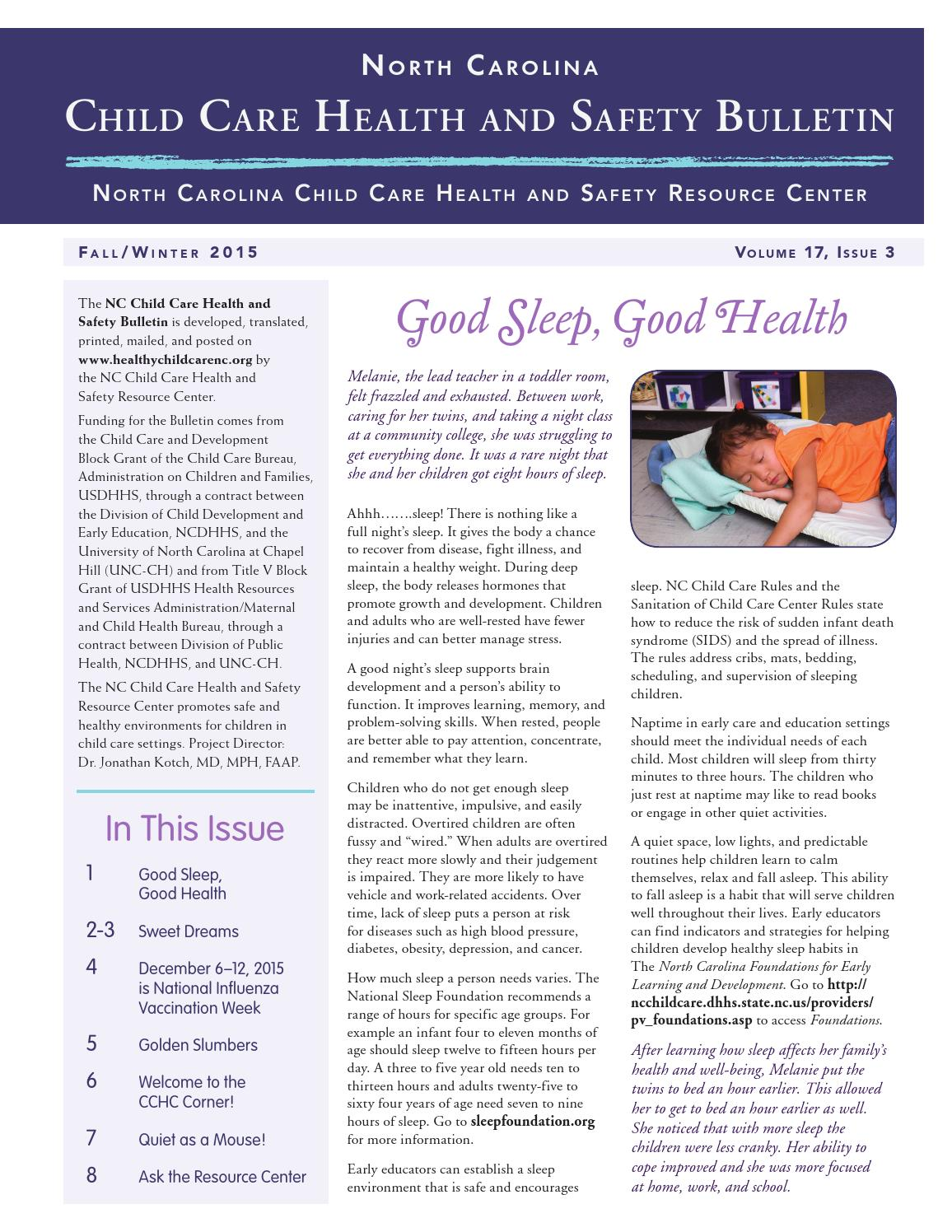 north carolina child care health and safety bulletin sally johns cc newfall15 1 year ago sallyjohnsdesign