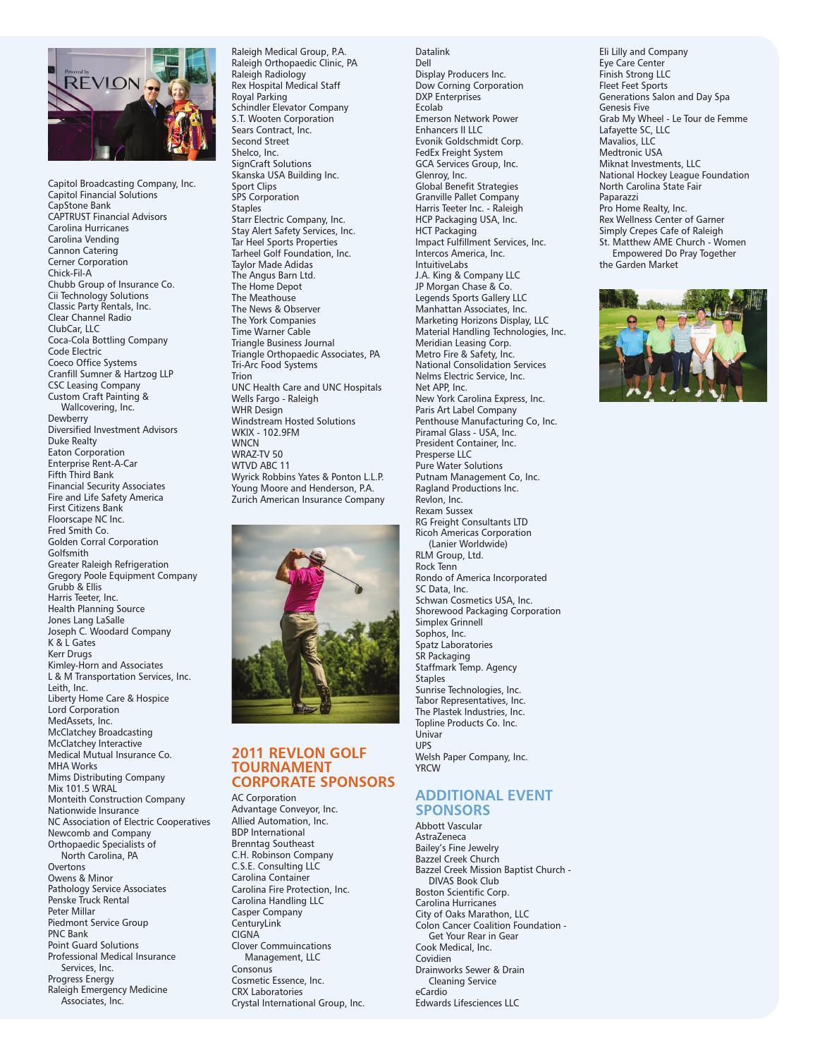 Rex Healthcare Foundation Gratitude Report 20112012 By Sally Johns