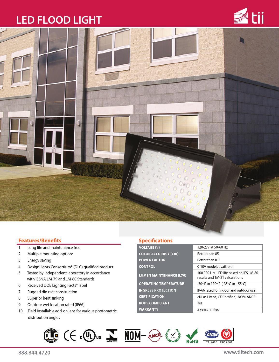 LED Flood Light Tii By Advantek LED Lighting Solutions Issuu