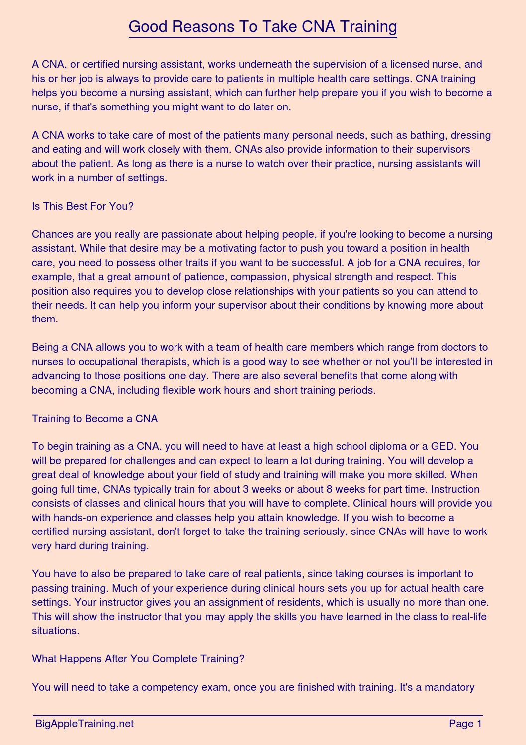 Good Reasons To Take Cna Training By Tony Padilla Issuu
