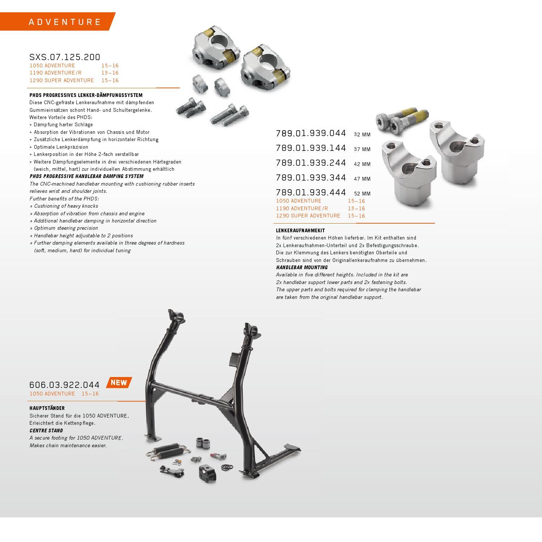 KTM PowerParts Street Catalog 2016 English / Deutsch by KTM ...